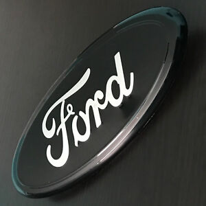 7 Black Silver Ford 04 14 F150 Rear Tailgate Emblem Grille Oval Decal Badge