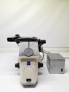 Zeiss Axivert 200m Motorized Inverted Microscope Stage Mac 5000 Ps Filter