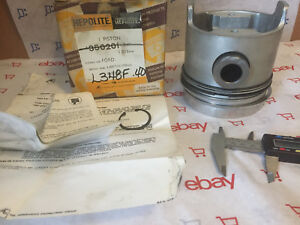 4 Ford Tractor Piston Kit With Rings Set Of 4 L348f 40 Eonn6108ae D2nn6108ag