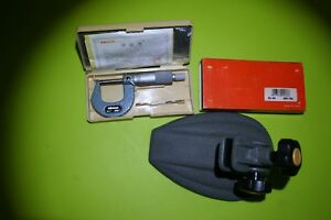 Mitutoyo Micrometer 103 260 Outside 0 1 With Micrometer Stand