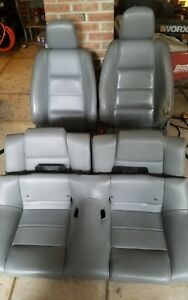 05 09 Ford Mustang Leather Seats Drivers Passengers Front And Rear Grey Leather