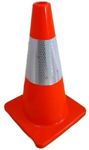 18 Orange Road Safety Cones 3m Reflective Collar Traffic Cone 6 Pack Pcs