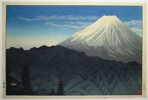 Shotei Fuji From Hakone Japanese Woodblock Print First Ed