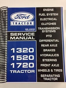 Ford 1520 Tractor Service Manual Repair Manual Technical Manual Shop Manual