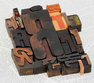 Rrrrr Mixed Set Of Letterpress Wood Printing Blocks Type Woodtype Wooden Printer