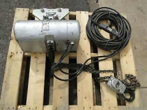 Cm Lodestar Electric Chain Hoist 2 Ton 4000lbs 460v 208v 3phase 10ft Lift