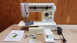 Kenmore 1249 Upholstery Denim Free Arm Stretch Stitch Sewing Machine Serviced