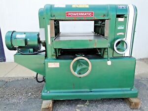 18 Powermatic Model 180 7 5hp 220v 3ph Power Wood Planer Made In Usa We Ship