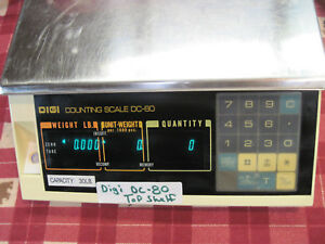 Digi Matex Digital Counting Scale Dc 80 Works Great