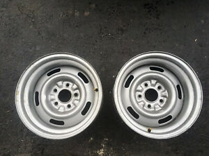 2 Vintage Oem Corvette 15 X 8 Rally Rims