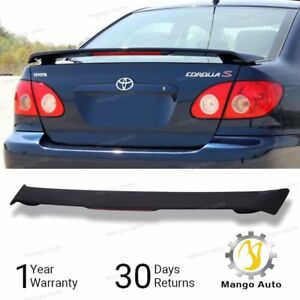 For Matte Black 2003 2008 Toyota Corolla Ce Le S Rear Trunk Spoiler W led Brake