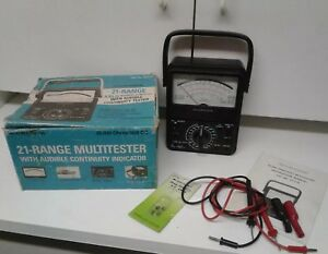 Micronta 21 Range Multitester 22 210 With Audible Continuity Tester Radio Shack