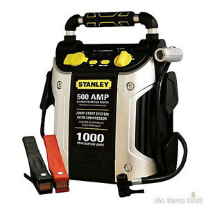 Car Jump Starter Pack Booster Battery Charger 500 Amp 1000 Peak With Compressor