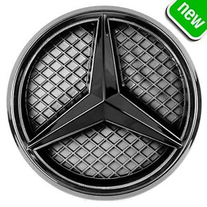 Mercedes Benz 2011 2018 Led White Light Black Grill Star Logo Badge Emblem Front