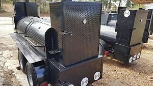 Perfect Draft Big Smoky Bbq Smoker Grill Trailer Business Food Truck Concession