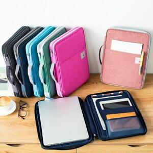 Multi functional A4 Document Bags Folder Briefcase File Notebooks Storage Pouch