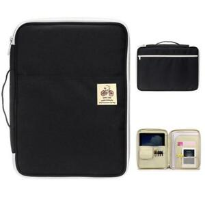 A4 File Folder Document Bag Business Briefcase Notebooks Pens Book Storage Pouch