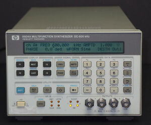 Hp Keysight 8904a Dual Channel Multifunction Synthesizer Dc 600 Khz Opts 1