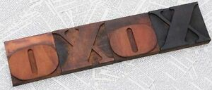 xoxo Rare Wood Type Woodtype Font Letterpress Printing Blocks Wonderful Patina