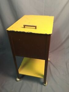 Wp Johnson Co Industrial Rolling Metal Filing Cabinet Unit Vintage Storage Usa