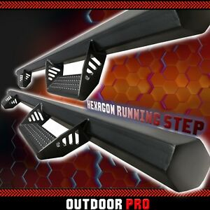 Hex 10 18 Fit Dodge Ram 1500 2500 3500 Crew Cab Black Running Boards Nerf Bars