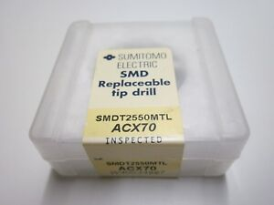 New Sumitomo Smdt2550mtl Acx70 25 5mm Carbide Smd Replaceable Drill Tip