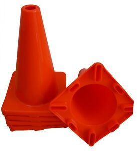 12 Inch Orange Road Safety Traffic Cone Construction Parking 6 Pack Pcs