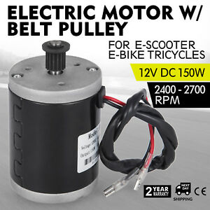 Electric Motor 12v Dc Motor With Belt Pulley 150w Soap box Pocket Bike 3500rpm