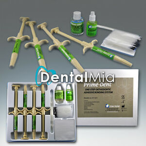 3 Primedent One step Orthodontic Adhesive Bonding System Kit 4x5g Syringes