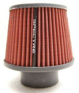 Spectre 9132 Performance Cone Cold Air Intake Red Filter Clamp On 3 76 Mm Tube