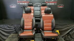 2014 Chevy Cruze Front Rear Seats Electric Leather Black Tan Inlay 01k