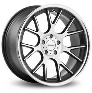 Vossen Cv2 Black Machine Face 5x130 Bolt Pattern 20x11 Et55 set Of 4