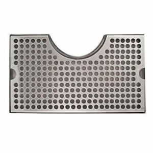 12 X 7 Kegerator Tower Cutout Drip Tray Stainless Steel Removable Grate