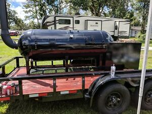 500 Gallon Texas Style Offset Smoker 12 Trailer Insulated Firebox Bbq Barbecue