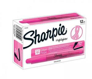 Sharpie Accent Pink Ribbon Pocket style Highlighters 12 Highlighters 1741910