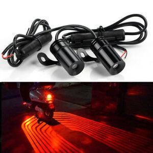 2x Angel Wings Red Led Projector Car Motorcycle Courtesy Shadow Welcome Lights F
