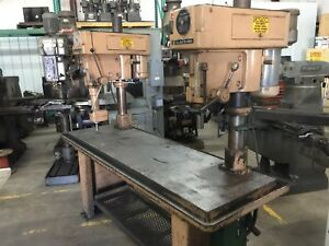 Two Clausing Step Pulley Gang Drill Press Model 2230 20 80 X 24 Table