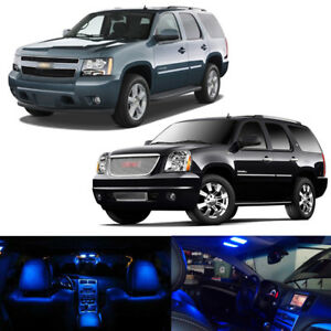 16 X Blue Led Interior Bulbs Lights Package Kit For 2000 2014 Tahoe Yukon