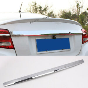 Stainless Rear Trunk Lid Tail Gate Cover Trim For Toyota Vios Yaris Sedan 13 14
