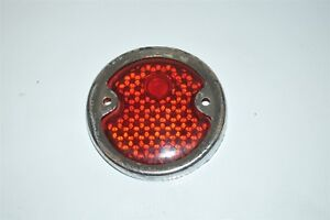 Red Glass Lens Tail Stop Light Cover Vintage Old Antique Vintage 1930 S 1940 S