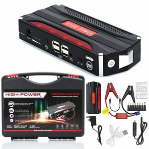 Portable Car Jump Starter Power Bank Vehicle Battery Booster Charger 82800mah Vi