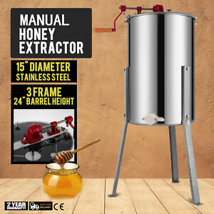 Manual 3 6 Three Frame Honey Extractor Beekeeping Equipment Commerical