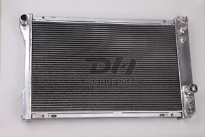 Polish 3 Rows Aluminum Radiator 82 92 Chevy Camaro pontiac Firebird Trans Am V8