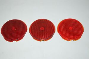 Red Glass Lens Tail Stop Light Cover Vintage Old Antique Vintage Hilite Antique
