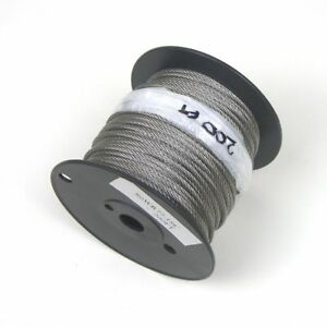 200ft Cable Railing T316 Stainless Steel Wire Rope Cable Strand 1 8 7x7