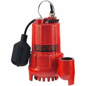 Red Lion Rl sc50t 1 2 Hp Cast Iron Submersible Sump Pump W Tether Float Sw