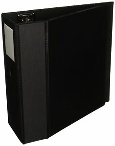 Avery Durable Binder With Two Booster Ezd Rings 5 Capacity Black ave08901