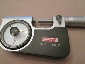 Indicating Micrometer Spi 0 1 0001 Grad 13 508 7 metal Case nice Condition
