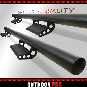 05 18 For Nissan Frontier Crew Cab Drop Down Running Boards Bars Side Rails