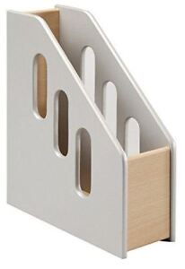 Osco Wooden Magazine File H315 X W99 X D275mm Silver And Beech